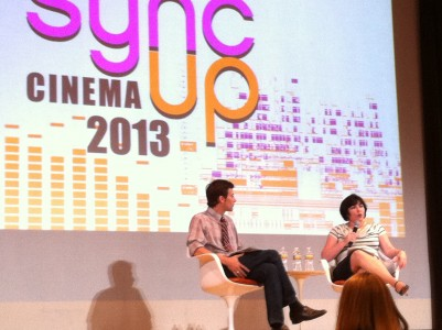 Sync Up Cinema Conference with Clint Bowie and myself. Photo credit Ashley Charbonnet