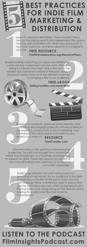 Infographic Best Practices for Film Marketing & Distribution for film producers